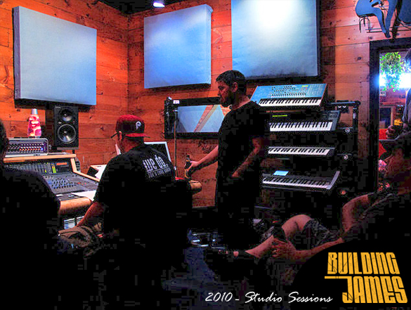 Building James mixing record