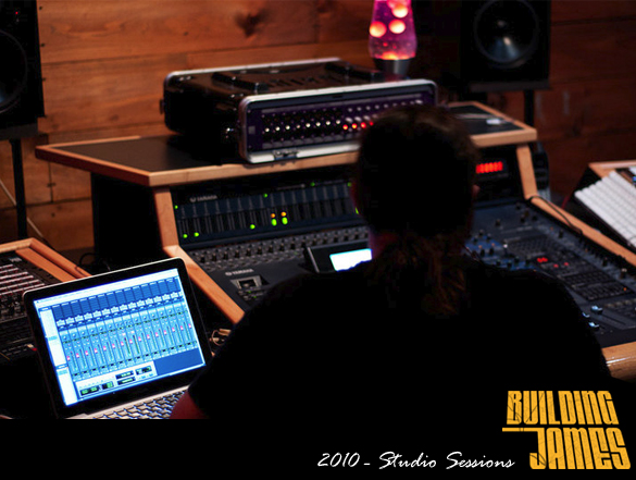 Building James mixing tracks